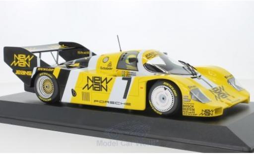 Porsche 956 1/18 Minichamps K No.7 Joest Racing 1000 Km Nürburgring 1984 Ayrton Senna Collection mit Figur H.Pescarolo/S.Johansson/A.Senna modellautos