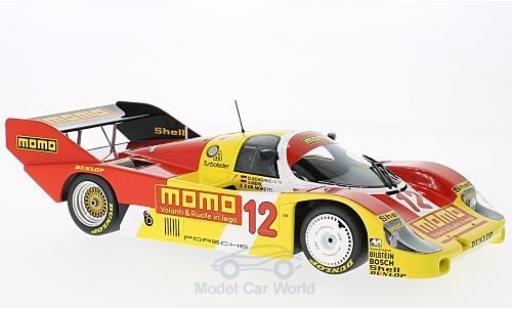 Porsche 956 1983 1/18 Minichamps K No.12 Dieter Schornstein Racing Team Momo 1000 km Mugello 1983 V.Merl/G.Moretti/D.Schornstein miniature