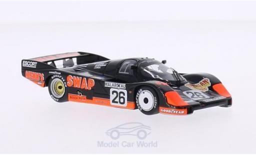 Porsche 956 1984 1/43 Minichamps L No.26 Swap Shop 24h Le Mans P.Henn/J.Rondeau/J.Paul Jr miniature