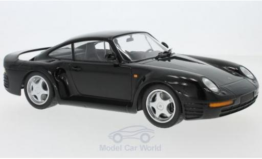 Porsche 959 1987 1/18 Minichamps black diecast model cars