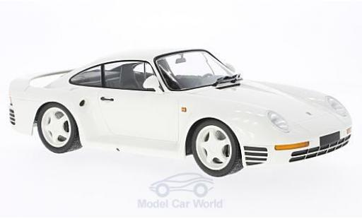 Porsche 959 1987 1/18 Minichamps white diecast model cars