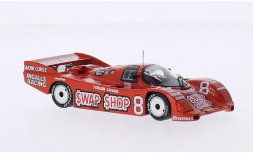 Porsche 962 1985 1/43 Minichamps IMSA No.8 Ingalls Racing Swap Shop IMSA 12h Sebring A.J.Foyt/B.Wollek diecast model cars