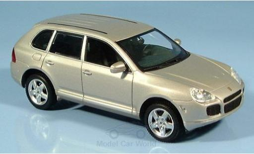 Porsche Cayenne Turbo 1/43 Minichamps metallise beige 2002 miniature
