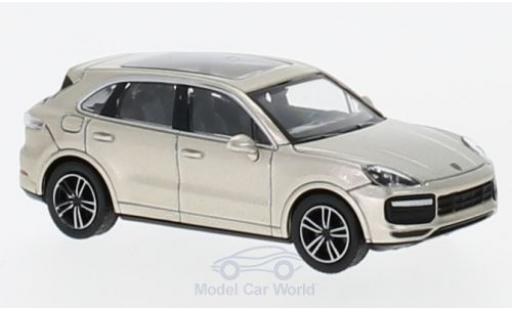 Porsche Cayenne Turbo 1/87 Minichamps Turbo metallic-beige 2017 miniature