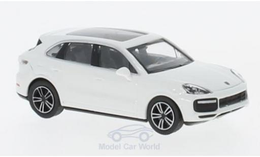 Porsche Cayenne Turbo 1/87 Minichamps Turbo blanche 2017 miniature