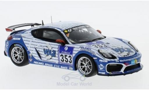 Porsche Cayman GT4 Clubsport 1/43 Minichamps No.353 Mathol Racing e.V 24h Nürburgring 2016 M.Keilwerth/V.Wawer/R.Thomsen/W.Assmann miniature