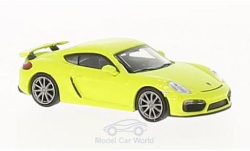 Porsche Cayman 1/87 Minichamps GT4 hellgrün 2016 miniature
