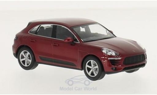 Porsche Macan 1/43 Minichamps metallic-rouge 2013 miniature