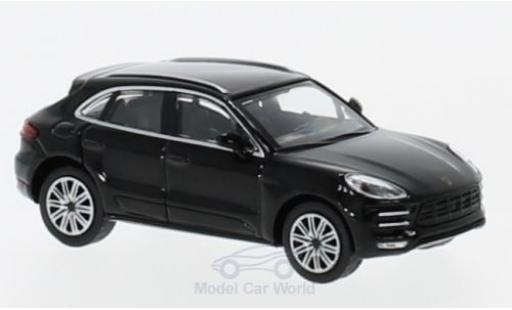 Porsche Macan Turbo 1/87 Minichamps Turbo noire 2013 miniature