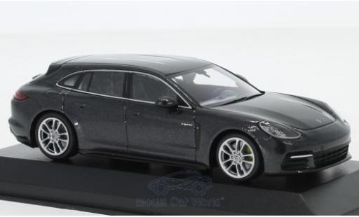 Porsche Panamera 1/43 Minichamps Sport Turismo 4E-Hybrid métallisé grise 2017 miniature