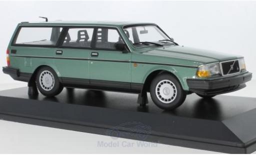 Volvo 240 1/18 Minichamps GL Break metallise green 1986 diecast model cars