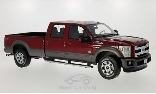Ford F-350 1/18 Model 777 King Ranch rouge 2016 miniature
