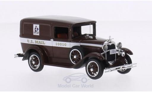 Ford Model A 1/43 Motorhead Livery marron U.S.Mail 1931 miniature