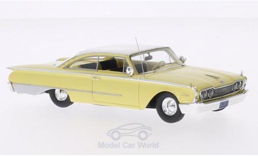 Ford Starliner Galaxie 1/43 Motorhead jaune/blanche 1960 miniature