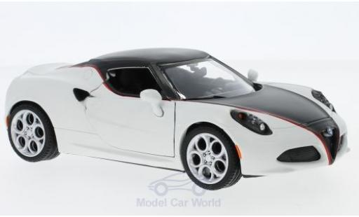Alfa Romeo 4C 1/24 Motormax matt-white/matt-black diecast model cars