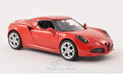 Alfa Romeo 4C 1/24 Motormax red diecast model cars