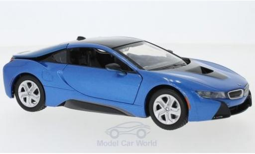 Bmw i8 1/24 Motormax metallise blue 2018 diecast model cars