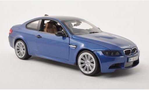 Bmw M3 1/18 Motormax (E92M) metallise bleue/carbon 2008 miniature