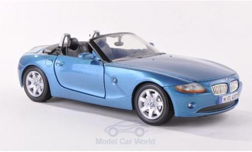 Bmw Z4 E85 1/24 Motormax  metallise bleue 2003 Verdeck geöffnet miniature