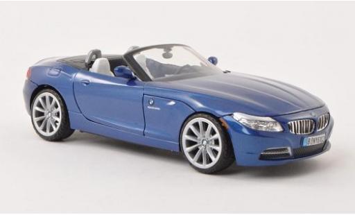 Bmw Z4 1/24 Motormax (E89) metallise bleue 2010 miniature