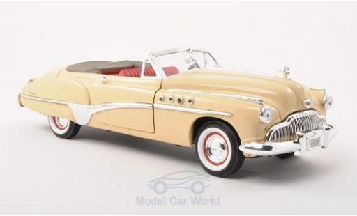 Buick Roadmaster 1/18 Motormax Convertible beige 1949 miniature