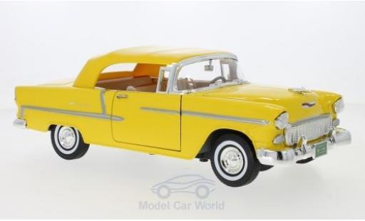 Chevrolet Bel Air 1/18 Motormax Convertible jaune 1955 miniature
