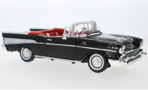 Chevrolet Bel Air 1/18 Motormax Convertible black 1957 diecast model cars