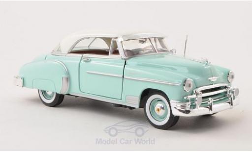 Chevrolet Bel Air 1/24 Motormax Hardtop turquoise/blanche 1950 miniature