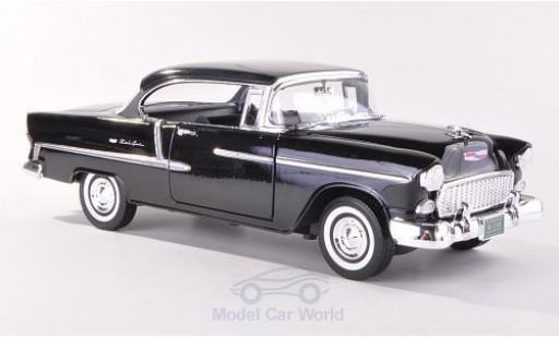 Chevrolet Bel Air 1/18 Motormax Hardtop noire 1955 miniature