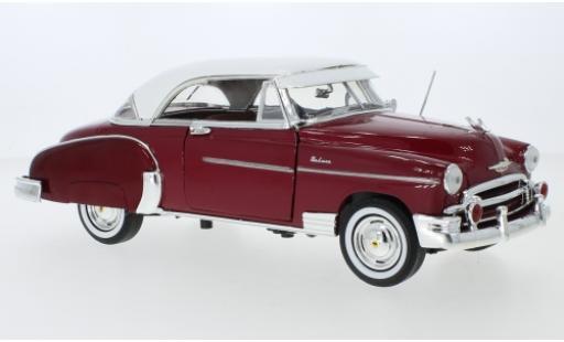 Chevrolet Bel Air 1/18 Motormax metallise red/white 1950 diecast model cars
