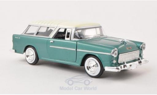 Chevrolet Bel Air 1/24 Motormax Nomad métallisé verte/beige 1955 miniature