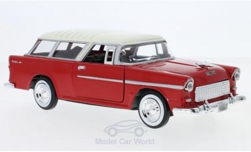 Chevrolet Bel Air 1/24 Motormax Nomad rouge/beige 1955