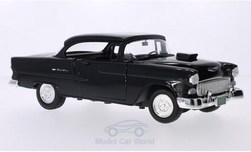 Chevrolet Bel Air 1/18 Motormax Tuning noire 1955 miniature