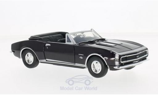Chevrolet Camaro 1/24 Motormax SS Convertible purple 1967 ohne Vitrine diecast model cars