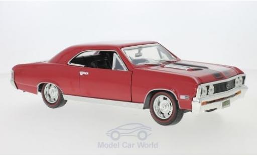Chevrolet Chevelle 1/18 Motormax SS 396 rojo/negro 1967 coche miniatura