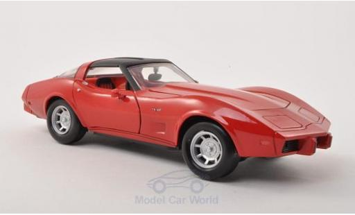 Chevrolet Corvette 1/24 Motormax C3 red 1979 ohne Vitrine