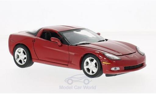 Chevrolet Corvette 1/24 Motormax (C6) red 2005 ohne Vitrine diecast model cars