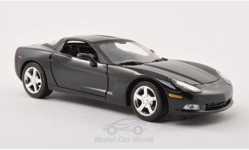 Chevrolet Corvette C6 1/24 Motormax  black 2005 diecast model cars