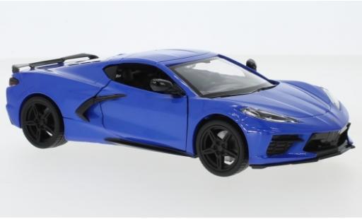 Chevrolet Corvette 1/24 Motormax C8 Stingray metallise blue 2020 diecast model cars