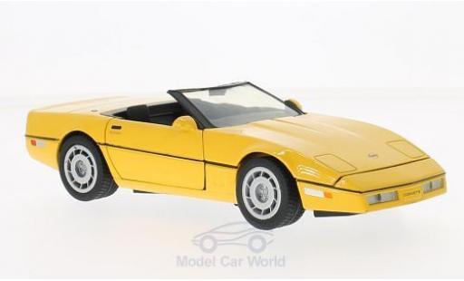 Chevrolet Corvette C4 1/24 Motormax Convertible (C4) yellow 1986 diecast