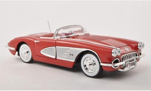 Chevrolet Corvette 1/18 Motormax rouge 1958 sans Vitrine miniature