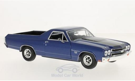 Chevrolet El Camino 1/24 Motormax metallic-bleue/noire 1970 miniature