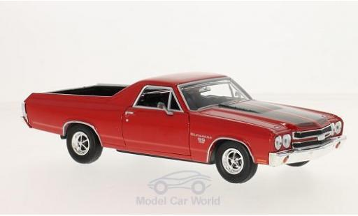 Chevrolet El Camino 1/24 Motormax red/black 1970 diecast model cars