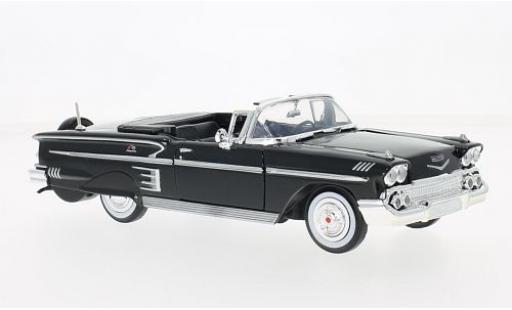 Chevrolet Impala 1/24 Motormax Convertible noire 1958 miniature