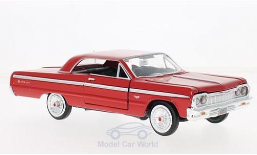 Chevrolet Impala 1/24 Motormax rouge 1964 miniature
