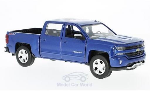 Chevrolet Silverado 1/27 Motormax 1500 LT - Z71 bleue 2017 Maßstab:1:27 Doppelkabine mit kurzer Ladefläche miniature