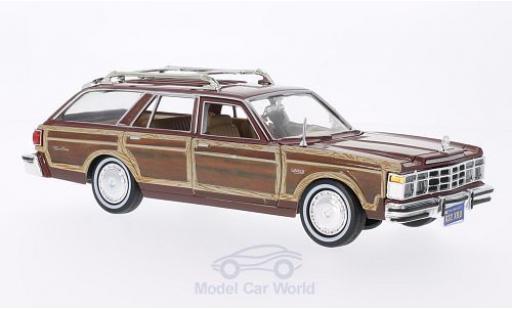 Chrysler Le Baron 1/24 Motormax Town & Country métallisé marron/Holzoptik 1979 ohne Vitrine miniature