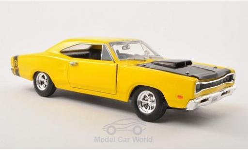 Dodge Coronet 1/24 Motormax Super Bee jaune/noire 1969 ohne Vitrine