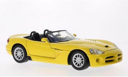 Dodge Viper 1/18 Motormax SRT-10 jaune 2003 miniature