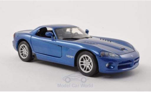 Dodge Viper 1/24 Motormax SRT-10 Hard Top metallise bleue 2003 ohne Vitrine miniature